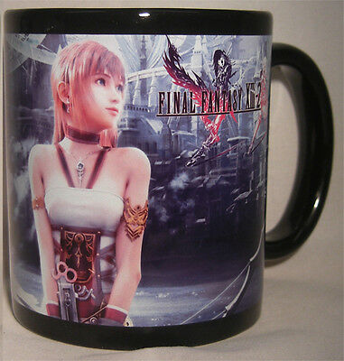 FINAL FANTASY 13 2 XIII II - Black Coffee MUG - CUP - Lightning