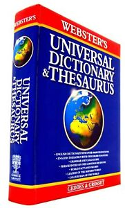 Webster's Universal English Dictionary & Thesaurus Vocabulary phrase Finder map 9781842051887 | eBay
