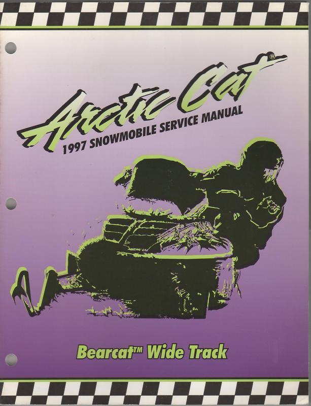 1997 ARCTIC CAT BEARCAT  SNOWMOBILE SERVICE MANUAL