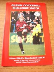 12051997 Fulham v Glenn Cockerill Select XI Glenn Co - <span itemprop=availableAtOrFrom>Birmingham, United Kingdom</span> - Returns accepted within 30 days after the item is delivered, if goods not as described. Buyer assumes responibilty for return proof of postage and costs. Most purchases from business s - Birmingham, United Kingdom