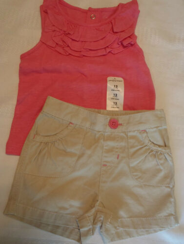 JUMPING BEANS Baby Girls 6-9 12 or 18 Month Short Shirt Outfit Choice NWT