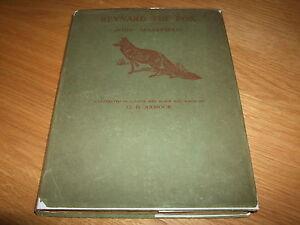 JOHN-MASEFIELD-G-D-AMOUR-REYNARD-THE-FOX-SIGNED-LETTER-HB-1921-VG-DJ-VERY-RARE