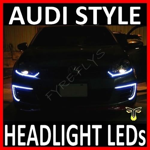 "WHITE 24"" LED SIDE SHINE HEADLIGHT STRIP LIGHTS DRL #B5"