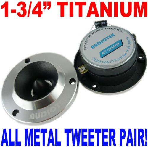 "3.75/'/' ALUMINUM BULLET TITANIUM HORN TWEETER 1.75/"" 500W SHIPS FAST USA PAIR"
