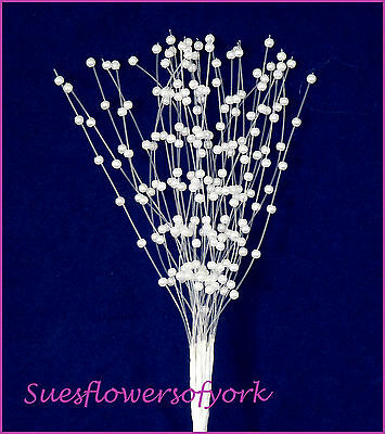 WEDDING FLOWERS= Pearl Sprays x 12 Stems, Wedding Bouquet,Corsage buttonholes,