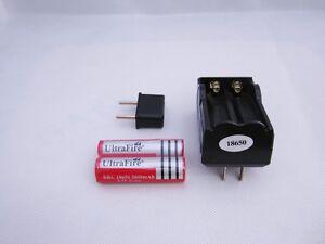 2-X18650-3-7V-3000mah-Li-ion-Rechargeable-battery-Dual-Battery-Charger-EU-Plug