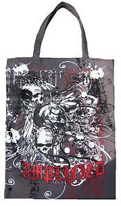 AMPLIFIED SKULL DARK SPIRIT SKULL BONES Canvas Shopping Bag Shopper ViP