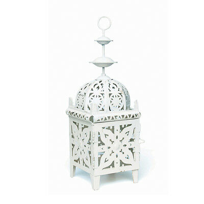 dotcomgiftshop CREAM MOROCCAN METAL LANTERN TEA LIGHT CANDLE HOLDER