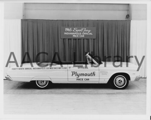 1965 Plymouth AP Sport Fury Convertible Coupe Indy Ref. #67781 Factory Photo