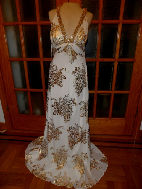 Style xs2573 New Ignite Evenings 2 layer Ivory Gold Wedding Dress size12,14,8,4