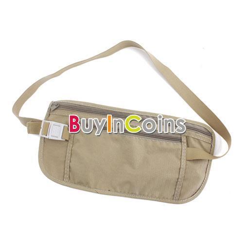 Travel Pouch Hidden Compact Security Money Waist Belt