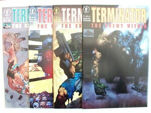 TERMINATOR-THE-ENEMY-WITHIN-1-to-4-FULL-SET-1991-92-NM