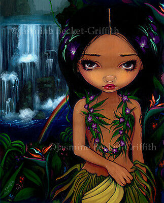 Jasmine Becket-Griffith art print SIGNED Amara menehune hawaii tiki hula rainbow