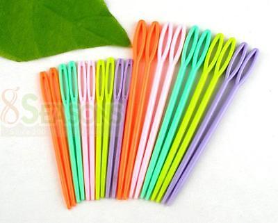 "20Pcs  2 3/4\"" , 3 3/4\"" Multicolor Plastic Sewing Needles"