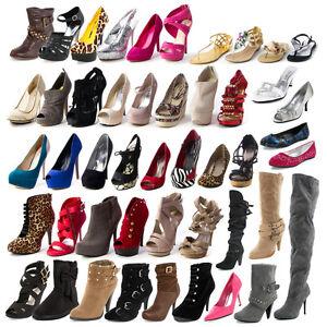 MIX-LOT-SALE-SIZES-SELECTABLE-WOMENS-HIGH-HEEL-PLATFORM-PUMP-SANDAL-SHOES-FLATS