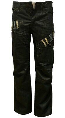 Cordiale Boys Black Coated Jeans Designer Denim Jeans/pants Straight Leg Sizes 25--29