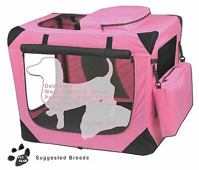 Pet Gear Dog Cat Soft Portable Crate PG5521OB PG5526RP
