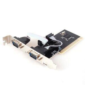 PCI-to-2-Dual-COM-RS232-Serial-I-O-Port-Card-Adapter