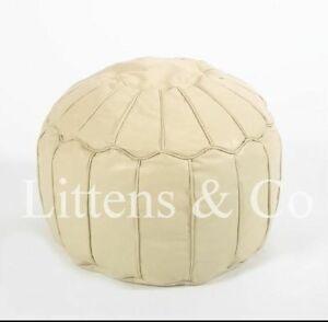 Cream-Leather-Moroccan-Footstool-Beanbag-Ottoman