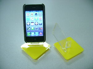 LOT 5 NEW STAND HOLDER CELL PHONE DISPLAY 1 in 1 YELLOW