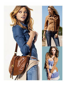 New-Women-Lady-Cool-Slim-Denim-Long-Sleeve-Shirt-Top-Blouse-Brown-Blue