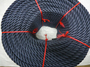 50-METRES-X-14MM-NAVY-BLUE-SOFTLINE-MOORING-ROPES-RED-BLACK-ALSO-AVAILABLE
