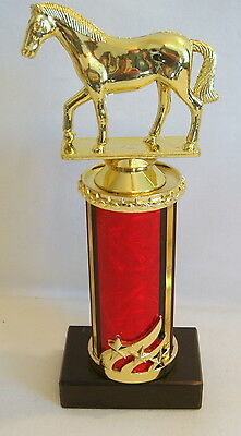9 # RED HORSE TROPHY, RACING  HORSE TROPHY  HORSES  TROPHIES   @