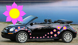 32 Pink Flower Sunflower Car Stickers Wall Graphics Ebay