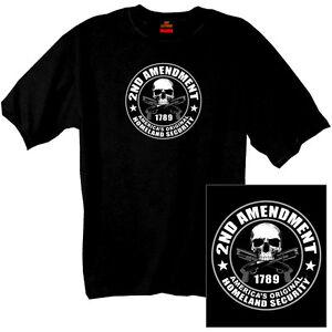 2nd-Amendment-America-039-s-Original-Homeland-Security-T-shirt-New-Skull-Gun-Rights