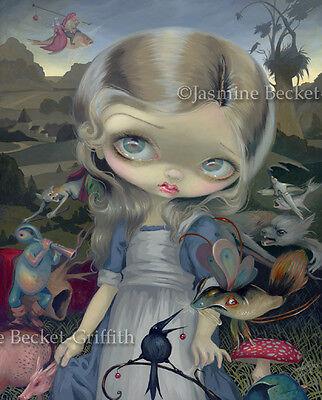 Jasmine Becket-Griffith art print SIGNED Alice in a Bosch Wonderland surrealism