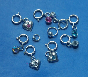 nail piercing 925 sterling silver ring and stones with