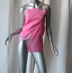 COMME-DES-GARCONS-Pink-Patchwork-Cami-Blouse-Top-NEW-S
