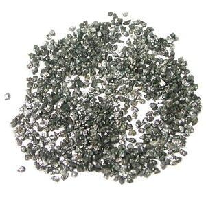 10+ Carats Treated Black Uncut Rough Diamonds 100 pc