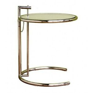 Eileen gray end table side table adjustable c table modern table new ebay - Eileen gray table original ...