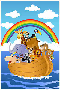 Noah 39 s ark wall decor mural decal sticker 3 ebay - Decor mural original ...