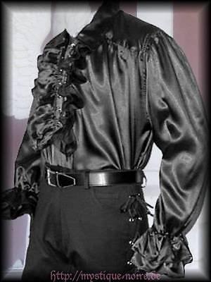 Rüschenhemd Hemd Nathan Viktorianisch Steampunk Gothic Hochzeit schwarz S - XXL