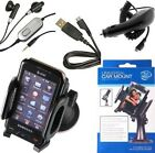 Samsung Galaxy S i9000 (ALL-OEM) Accessory Bundle Pack - Car Charger, Data Cable, Hands-Free, Car Mount Phone Holder
