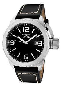 Invicta-Watch-1108-Mens-Corduba-Black-Dial-Black-Leather
