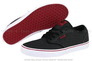 VANS-ATWOOD-VN-0KC46EZ-BLACK-RED-CHILI-TEXTILE-CLASSIC-SNEAKERS-MEN