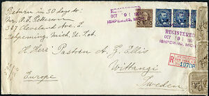 ISHPEMING-MI-TO-SWEDEN-REG-CVR-1901-3-OXs-USED-TO-SEAL-TIED-BY-NY-CNLS-BP3174
