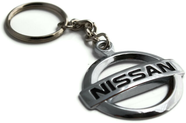 Nissan Logo Key Chain Mirror Chrome Metal Authentic Product