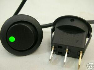 12-volt-switch-for-car-car-pc-with-GREEN-LED-UK-seller-NEW