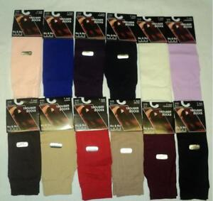 1-PAIRS-WOMEN-ANY-COLORS-TROUSER-KNEE-HIGH-SOCKS-9-11