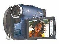 Sony Handycam DCR-DVD91E Camcorder - Blau (EU Region)