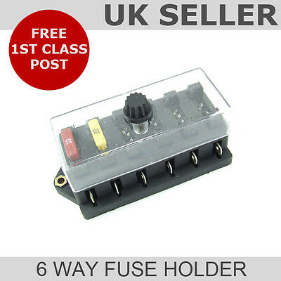 Blade Fuse Box (6 Way Universal Fuse Holder)