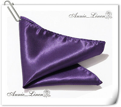 Annie High Quality Wedding/Party Handkerchief/Handky/Pocket Square 25 Colors