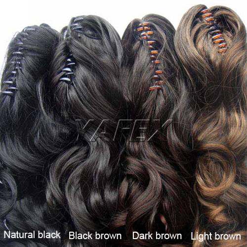 New 3Color clip in hair extension curl/curly/wavy ponytail/half-head ponytail