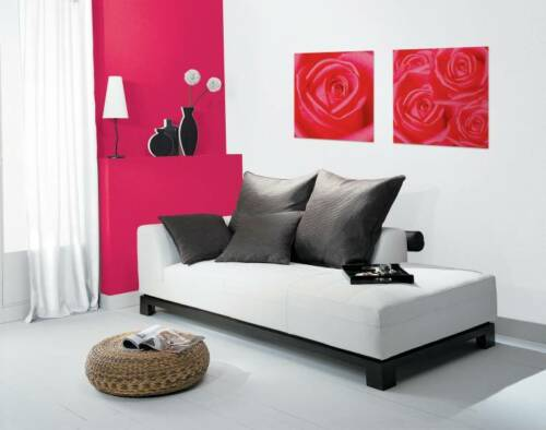 PETAL FLOWER RED ROSE INSTANT WALL ART STICKER PEEL N STICK  matches the  BORDER