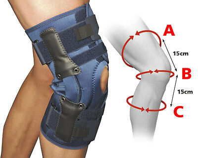 XX-Large Adjustable Fold Over Hinged Knee Brace Support Latex Free