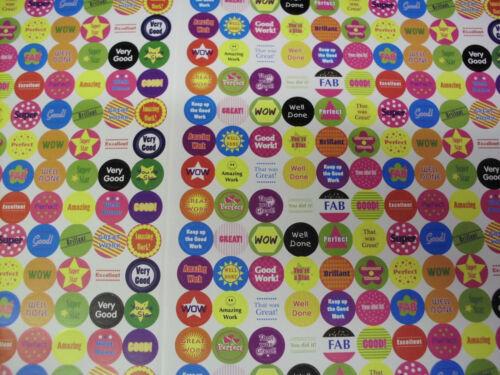 Teacher Reward Stickers, teaching resource, over 1000 well done, good work ,wow